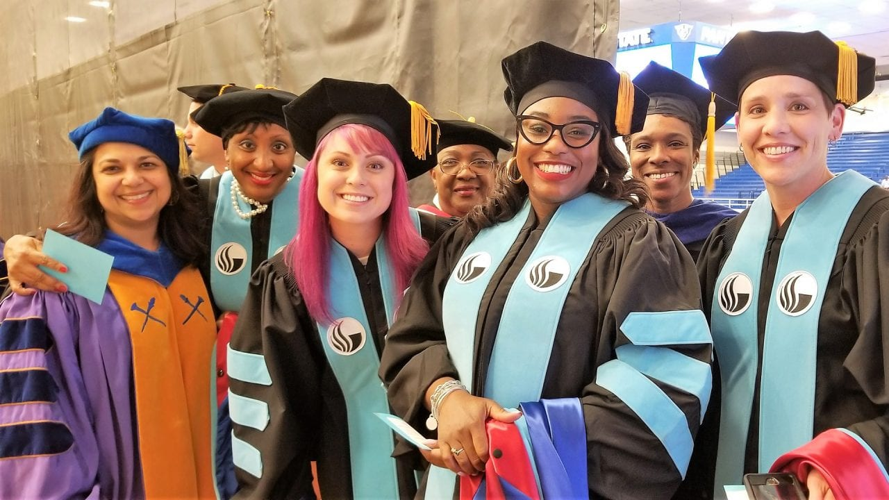 Ed.D. group at Spring 2018 commencement